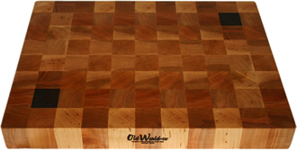 Butcher Block Cutting Board with Walnut Accents