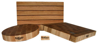 Custom designed wood cutting boards make great gifts